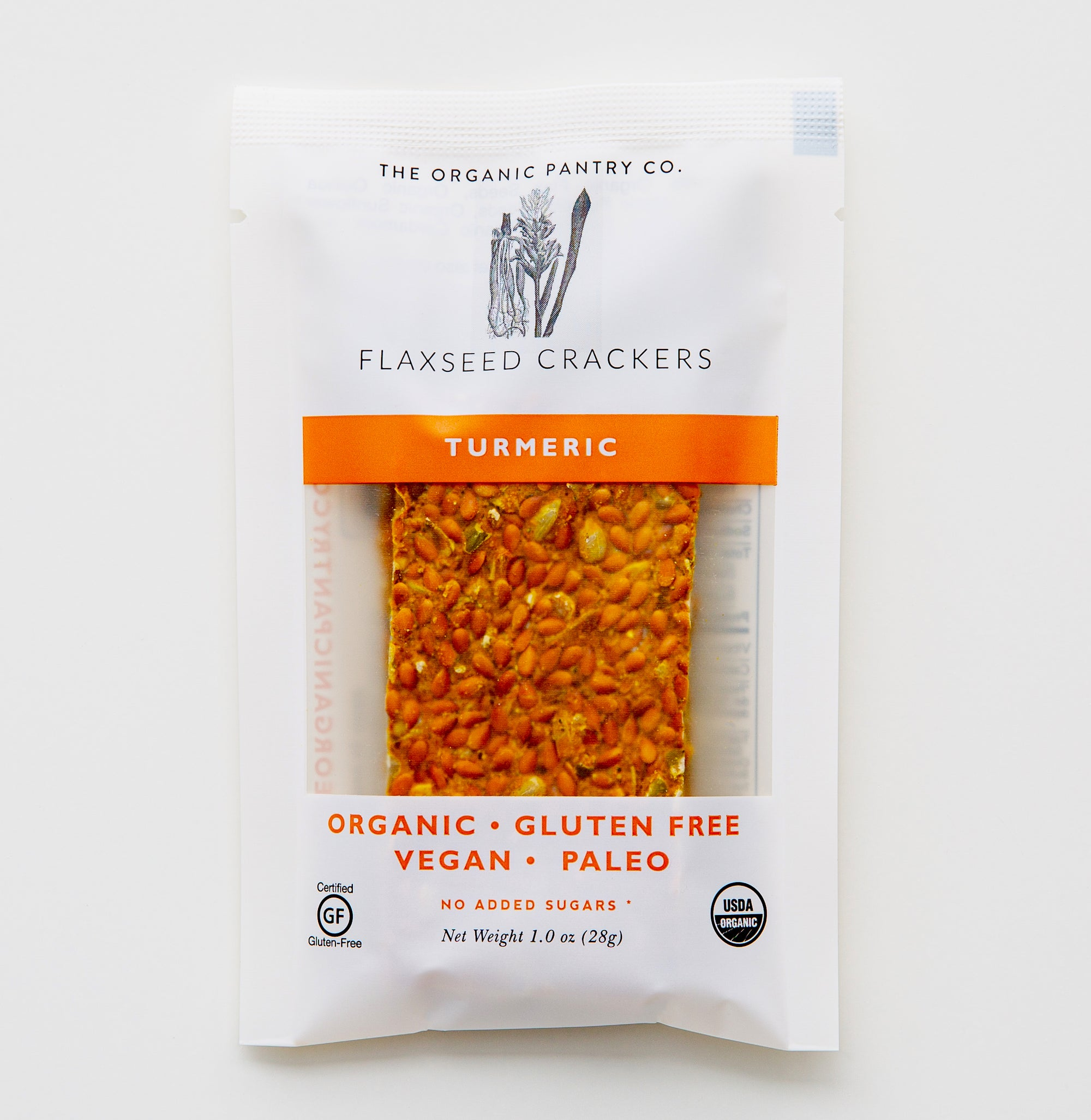 Turmeric Flaxseed Cracker 1.0 oz Single Serve Size (24 count box)