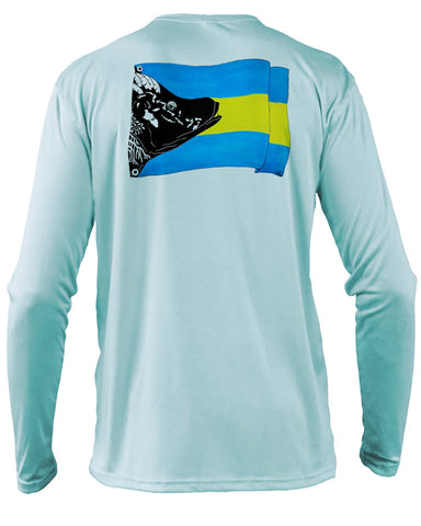 Light Blue Bahamas Hogfish Flag - Disaster Releif