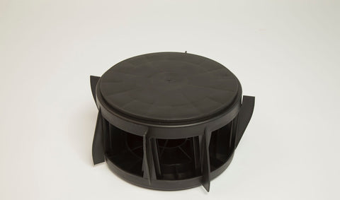 The Original Bucket Stool™ was designed to nest for compact storage. Two Bucket Stools™ pictured together.