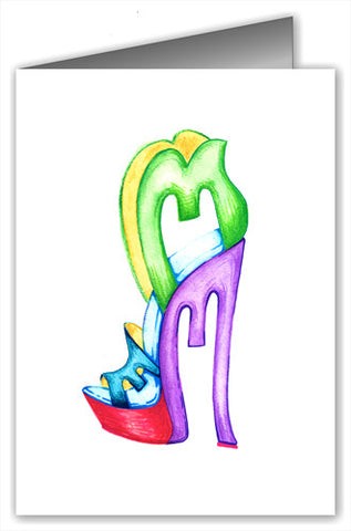 Greeting cards page 2 shoe york city shoeyorkcity letter fashion letter m greeting card m4hsunfo