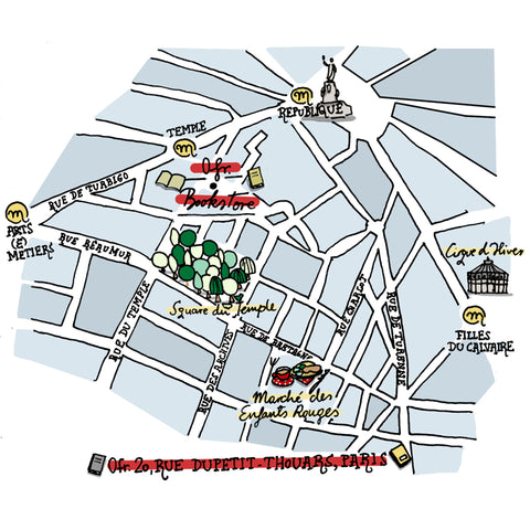 paris illustrated map