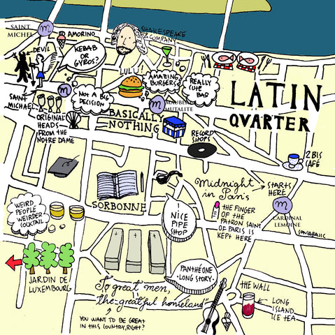 latin quarter illustrated map