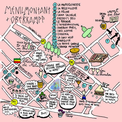 paris illustrated map oberkampf