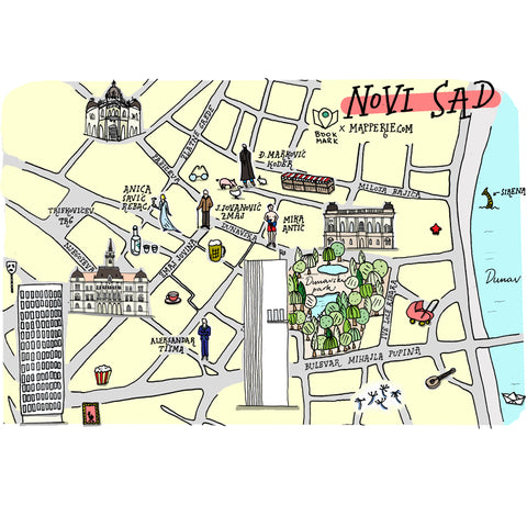 novi sad illustrated map