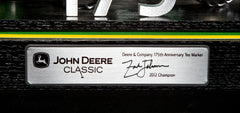 2012 John Deere Classic Tee Marker signed by champion, Zach Johnson.  Commemorating Deere & Co. 175th Anniversary