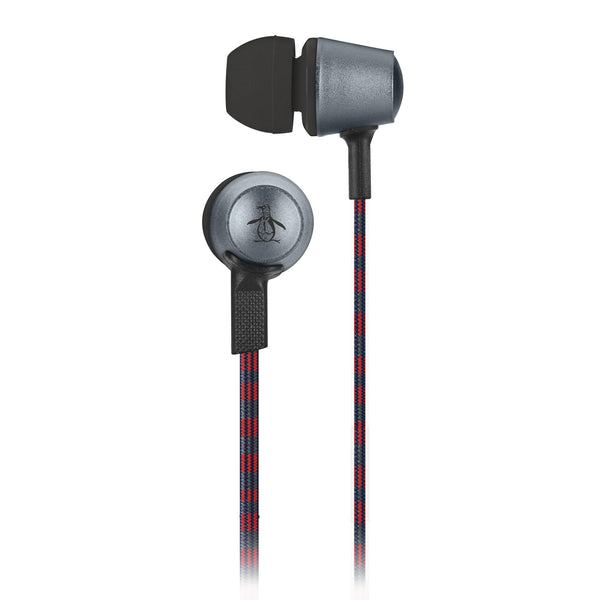 Penguin, In-Line Earbuds, METALLIC - BLACKNEON