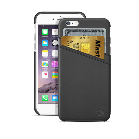 Penguin, iPhone 6 & 6S Case, CARD SLOT - BLACKNEON