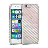 Nanette Lepore, iPhone 6 & 6S Case, DIAGONAL STRIPE - BLACKNEON