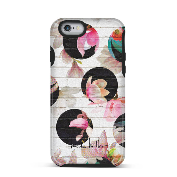 Nicole Miller, iPhone 6 & 6S Case, FLOWER DOT - BLACKNEON