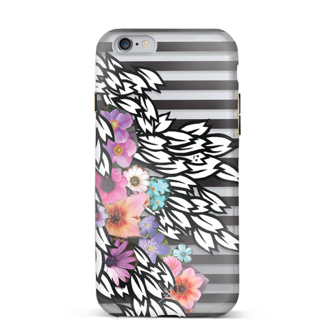 Nicole Miller, iPhone 6 & 6S Case, DRIFTING PETAL - BLACKNEON