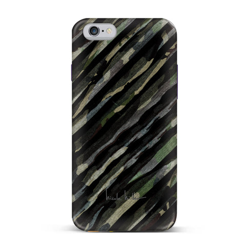 Nicole Miller, iPhone 7 Case, CRINKLE CAMO - BLACKNEON