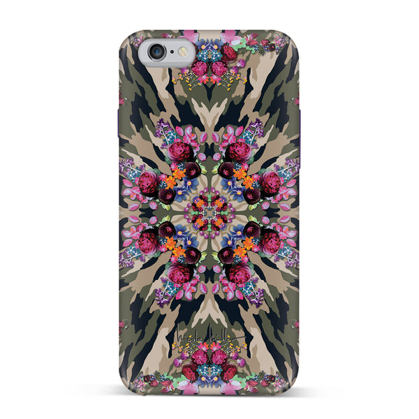 Nicole Miller, iPhone 7 Case, KALEIDOSCOPE CAMO - BLACKNEON