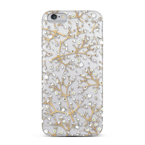 Nicole Miller, iPhone 7 Case, BABY'S BREATH - BLACKNEON