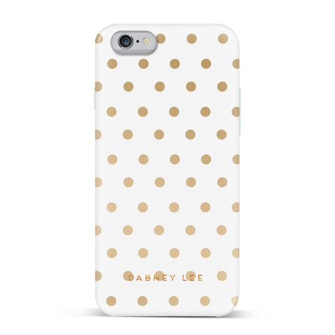 Dabney Lee, iPhone 7 Case, DOTTIE - BLACKNEON