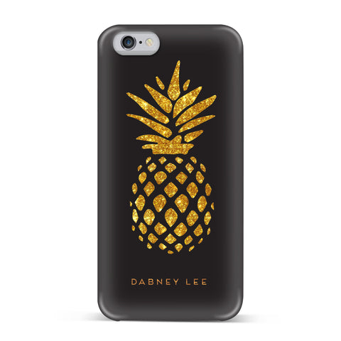 Dabney Lee, iPhone 7 Case, GIANT PINEAPPLE - BLACKNEON