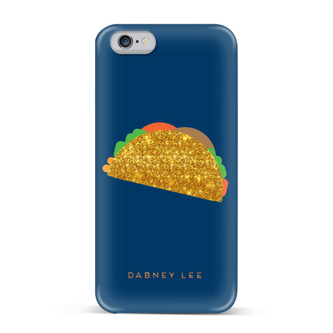 Dabney Lee, iPhone 7 Case, GIANT TACO - BLACKNEON