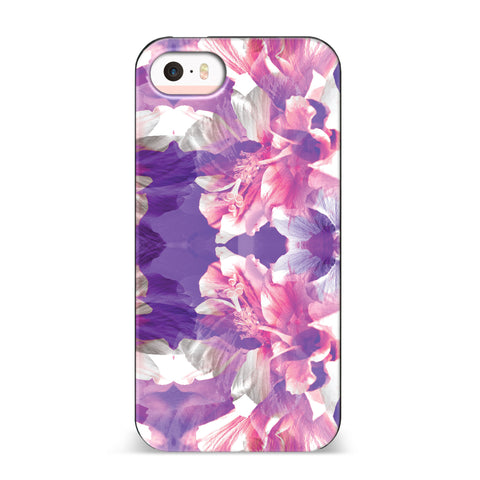 Nicole Miller, iPhone SE Case, HIBISCUS - BLACKNEON