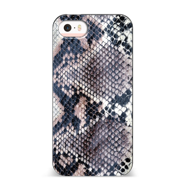 Nicole Miller, iPhone SE Case, SNAKESKIN - BLACKNEON