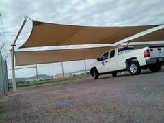 shade sail parking structure
