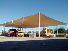 shade cover work area