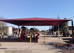 shade canopy over city play ground
