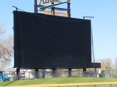 ball net over scoreboard