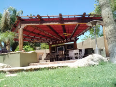 shade cover over wood ramada