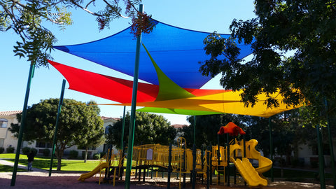 multicolor shade sail