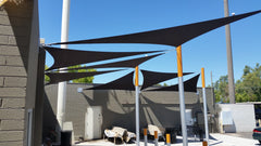 shade sails at a VA Center
