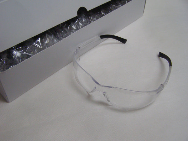 box of Zyek clear safety glasses