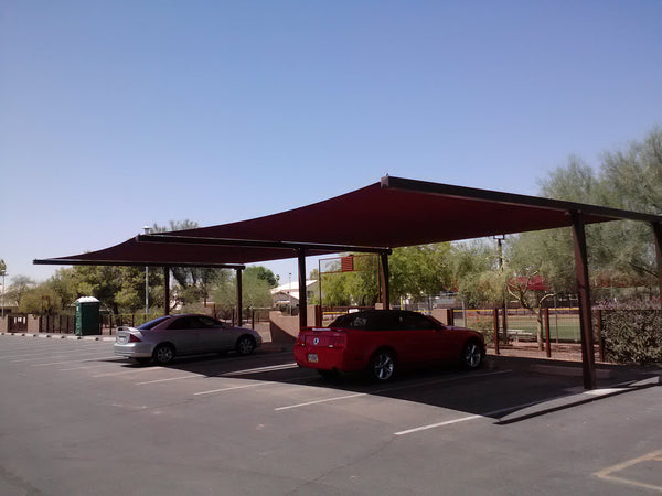 shade covered carport