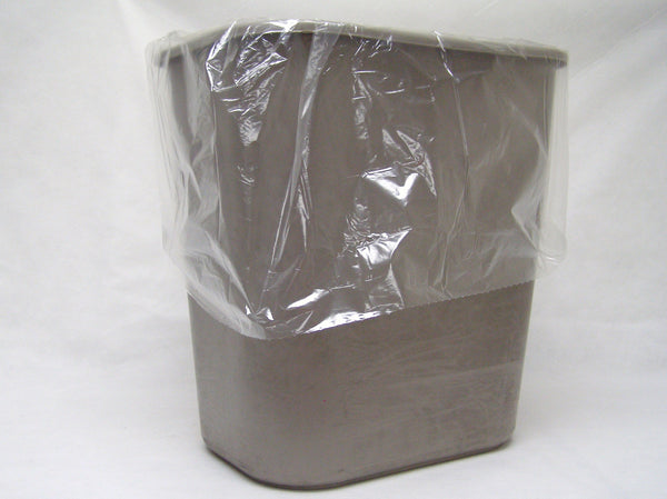 clear poly trash bag