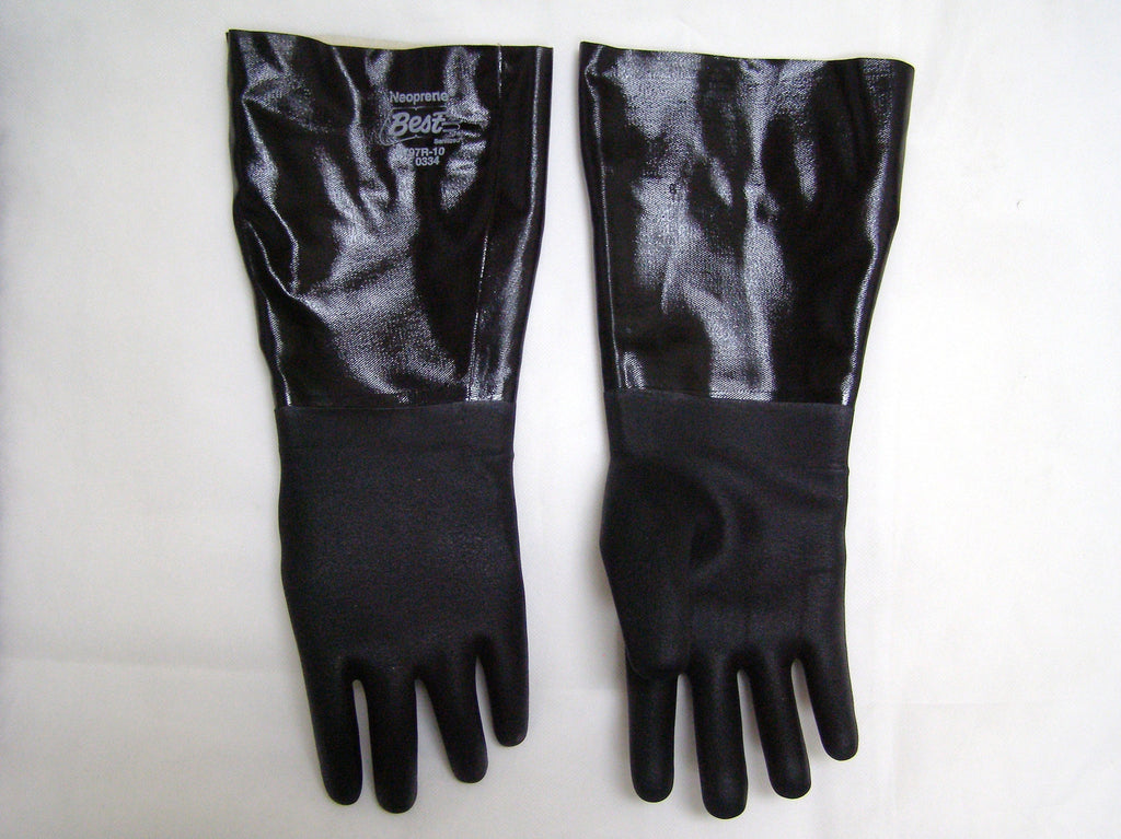elbow length neoprene gloves
