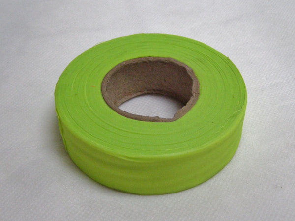 Fluorescent lime surveyors tape