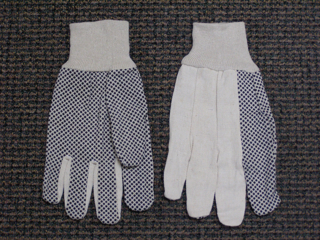 cotton glove with polka dots
