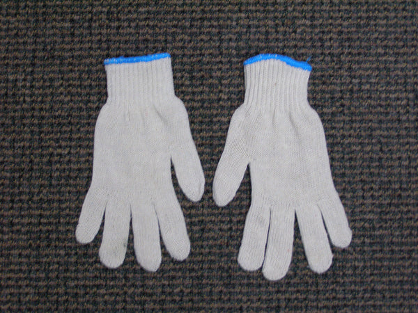 machine string knit gloves