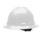 white full brim safety helmet