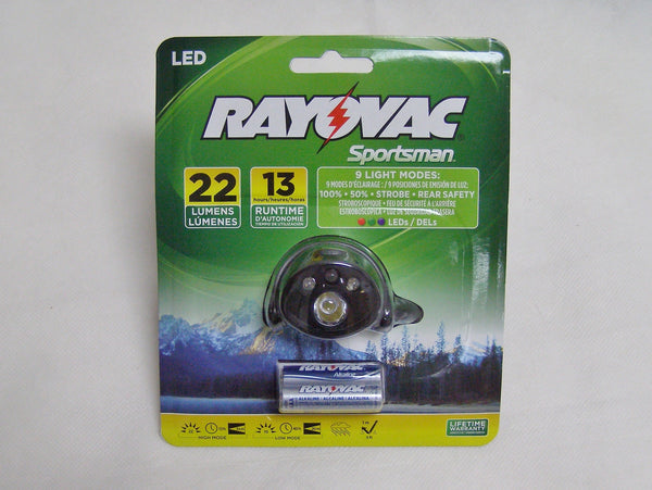 Ray O Vac LED head light flashlight