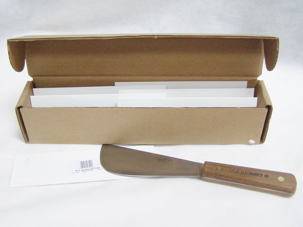 case of cotton sampling knives