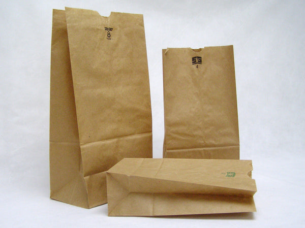 regular weight brown paper grocery bags