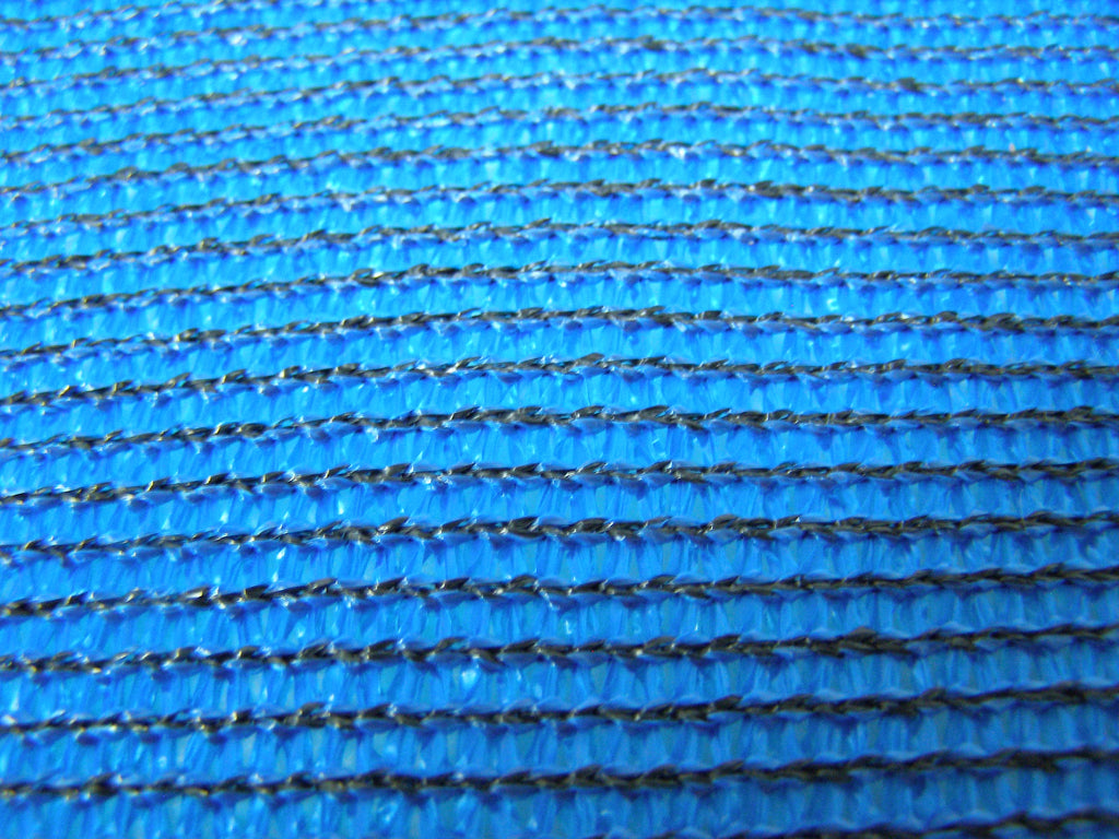 blue privacy fence screen fabric