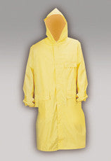 yellow PVC vinyl rain coat