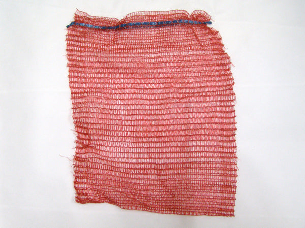 bale of red mesh bags