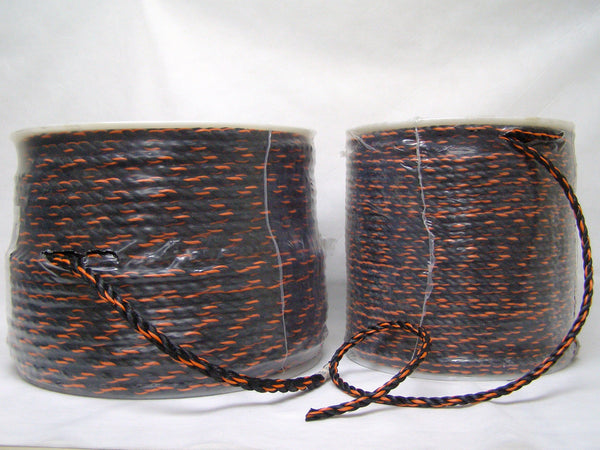"3/8"" black and orange rope"