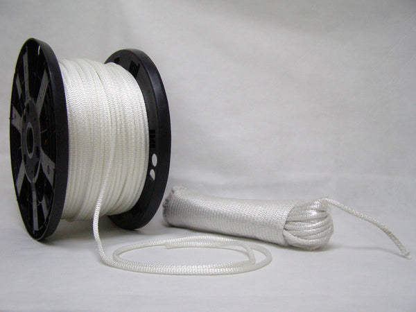 "1/4"" white polyester rope"