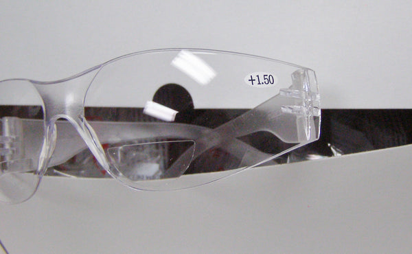 box of clear reader safety glasses