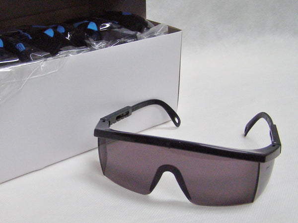 box of tinted Integra safety glasses