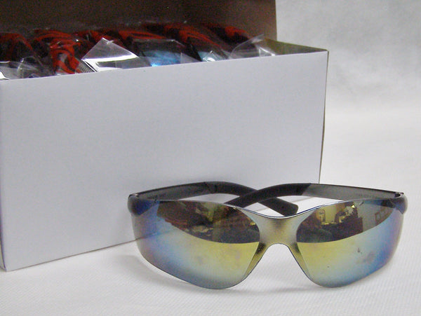 box of mirror tint safety glasses