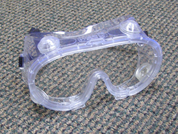 case of clear safety goggles