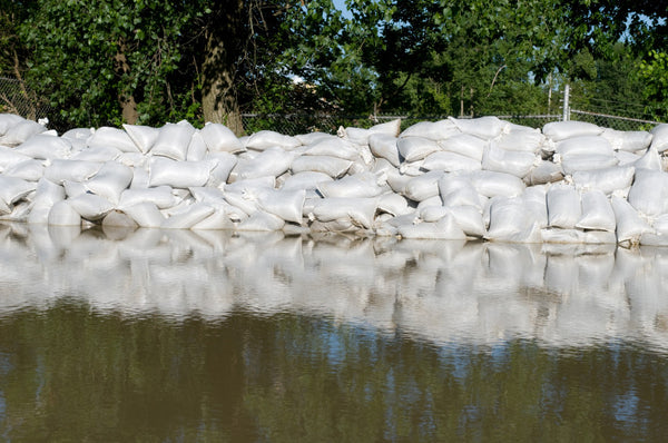 sand bags controlling flooding